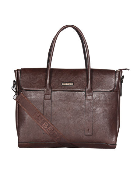 ESBEDA Regular Size Metropolitan Laptop bag For Men,  coffee