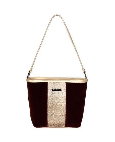 ESBEDA Suede Diamond Studded Handbag For Women,  brown