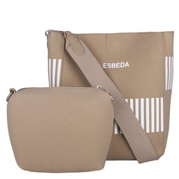 ESBEDA Solid Pattern Pastel Handbag with Pouch -1005021,  camel