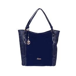 ESBEDA Solid Pattern Chevron Hobo Handbag For Women,  navy blue