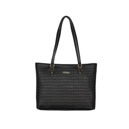 ESBEDA Embossed Textured Handbag For Women,  black