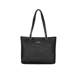 ESBEDA Embossed Textured Handbag For Women,  black