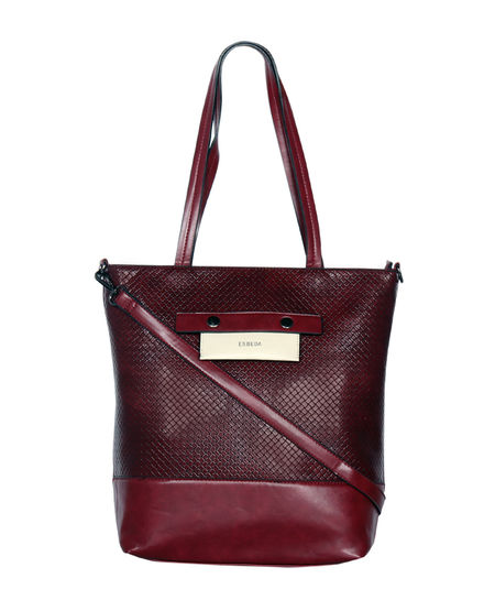 ESBEDA Big Size Odford Handbag For Women,  maroon