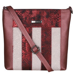 ESBEDA Animal Pattern Ziggy Ziggy Slingbag -1005447,  maroon