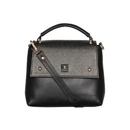 ESBEDA Solid Pattern Cinhetic Box Handbag For Women,  black