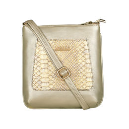 ESBEDA Medium Size Shiny Glitter Slingbag For Womens-A00100042-44,  gold