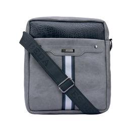 ESBEDA Solid Pattern Croco Stripe Slingbag 001005031,  grey