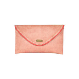 ESBEDA Solid Pink Color Clutch For Women,  pink