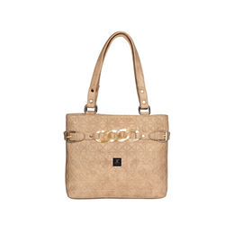 ESBEDA Emboss Dotmatrix quilted Handbag For Women,  beige