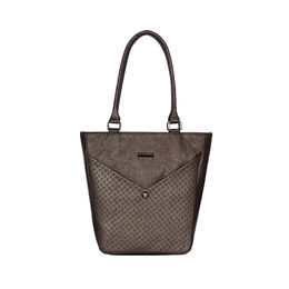 ESBEDA Solid Pattern Glitter Emboss Hand bag For Women,  coffee