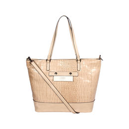 ESBEDA Zip Closure Solid Parallel Handbag For Womens,  beige