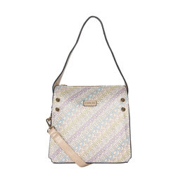 ESBEDA Printed Logo font handbag For Women,  beige