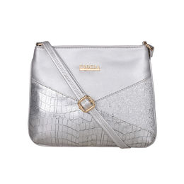 ESBEDA Medium Size Chunky Glitter Slingbag For Womens-A00100042-36,  silver