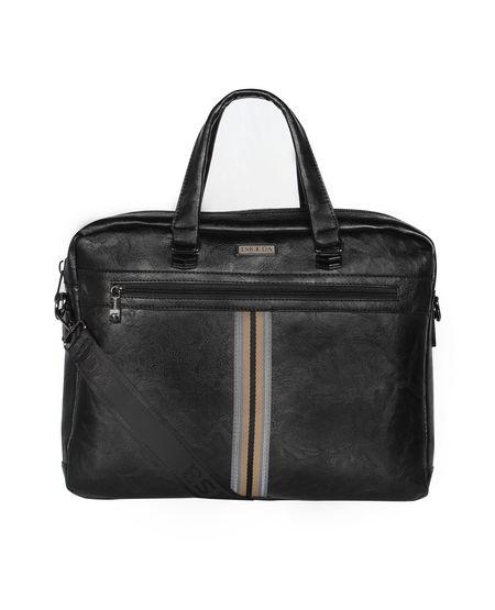 ESBEDA Regular Size Tactical Striped Laptopbag For Men,  coffee
