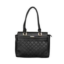 ESBEDA Solid Pattern Textured Handbag For Women,  black