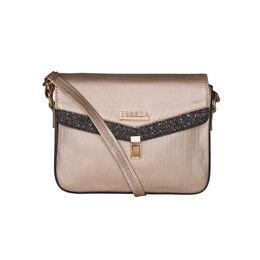 ESBEDA Black Color MEDIUM Size Glitter Slingbag For Women,  gold