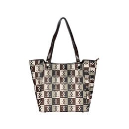 ESBEDA Logo Print pattern Handbag For Women,  brown