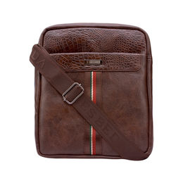 ESBEDA Solid Pattern Croco Stripe Slingbag 001005028,  brown