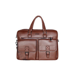 ESBEDA Solid Pattern Grain Laptop Bag,  coffee