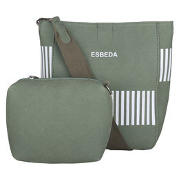 ESBEDA Solid Pattern Pastel Handbag with Pouch -1005021,  green