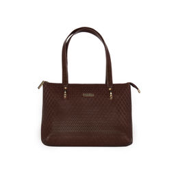 ESBEDA Embossed Textured Handbag For Women,  brown