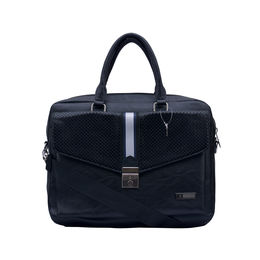 ESBEDA Solid Pattern Croco Laptop Bag 001004264,  black