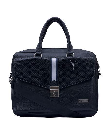 ESBEDA Solid Pattern Croco Laptop Bag 001004264,  black