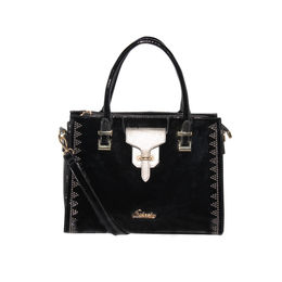 ESBEDA Solid Pattern stud sparkle Handbag For Womens,  black