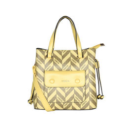 ESBEDA Printed Pattern Signature Logo handbag For Women,  yellow