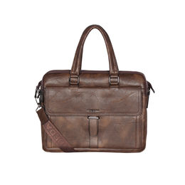 ESBEDA Solid Pattern Grain Laptop Bag,  brown