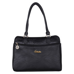 ESBEDA Solid Pattern Faux handbag -1005576,  black