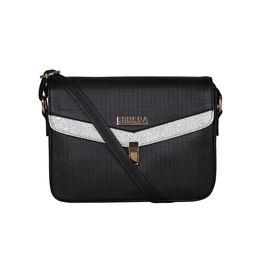ESBEDA Black Color MEDIUM Size Glitter Slingbag For Women,  black