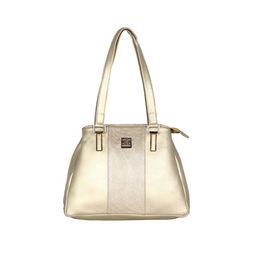 ESBEDA Solid Pattern Handbag For Women,  gold