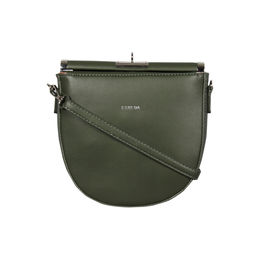 ESBEDA Small Size Solid U-Shaped Saddle Sling Bag For Women,  green