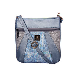 ESBEDA Medium Size Damask Slingbag For Womens-A00100042-42,  blue