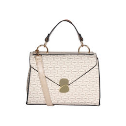ESBEDA Printed Pattern Signature Logo handbag For Women,  beige