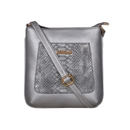 ESBEDA Medium Size Shiny Glitter Slingbag For Womens-A00100042-44,  silver