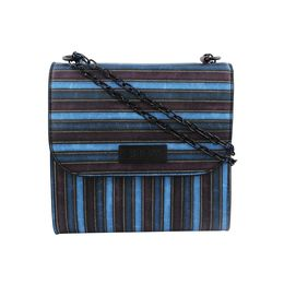 ESBEDA LADIES SLING BAG EB-001,  d blue & multi line