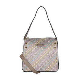 ESBEDA Printed Logo font handbag For Women,  khaki