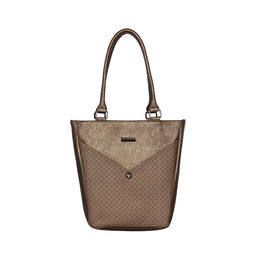 ESBEDA Solid Pattern Glitter Emboss Hand bag For Women,  bronze