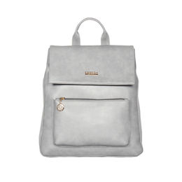 ESBEDA Magnet Closure Taslan Covertible Backpack For Women,  grey