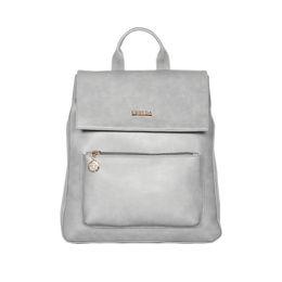 ESBEDA Magnet Closure Taslan Covertible Backpack For Women,  grey