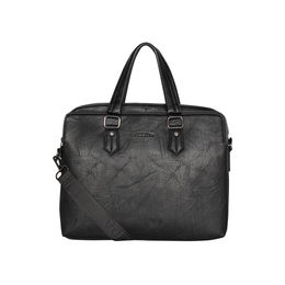 ESBEDA Solid Pattern Grain Laptop Bag,  black