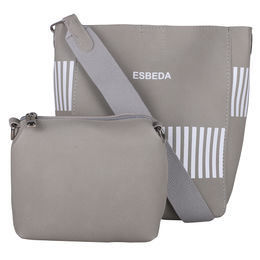 ESBEDA Solid Pattern Pastel Handbag with Pouch -1005021,  beige