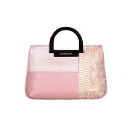 ESBEDA Medium Size Solid Cuero Armbag For Women,  pink