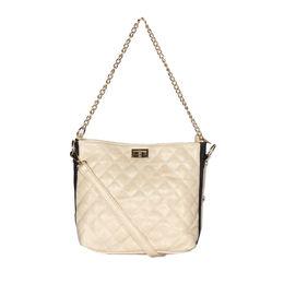 ESBEDA Solid Pattern Diamond Quilted Handbag For Women,  beige
