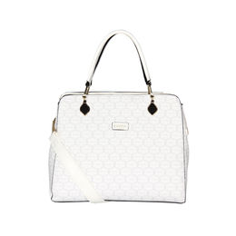 ESBEDA Printed Pattern Signature Logo handbag For Women,  white