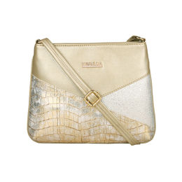 ESBEDA Medium Size Chunky Glitter Slingbag For Womens-A00100042-36,  gold