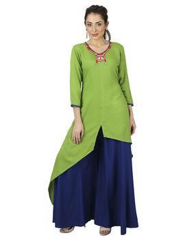 Lime Green asymmetrical tunic, xl, lime green