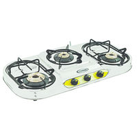 Sunshine VT-3 Step Plus Three Burner Stainless Steel Gas Stove, lpg, manual